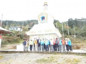 Group at Taksindu Stupa